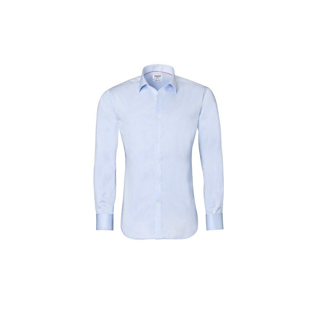 Ledově modrá košile Vincenzo Boretti na manžetové knoflíčky 1c1b7128ed