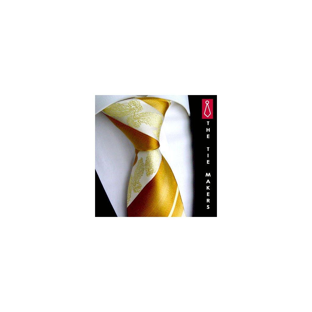 Svatební kravata Beytnur 206-3 zlatavá, žlutá