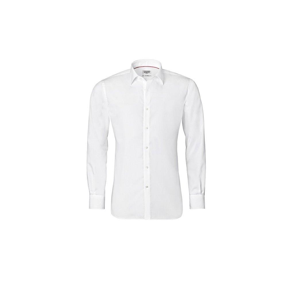 Bílá košile Vincenzo Boretti, dual manžety, SF758