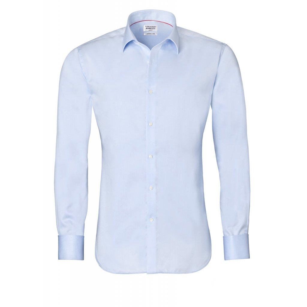 Ledově modrá košile Vincenzo Boretti,