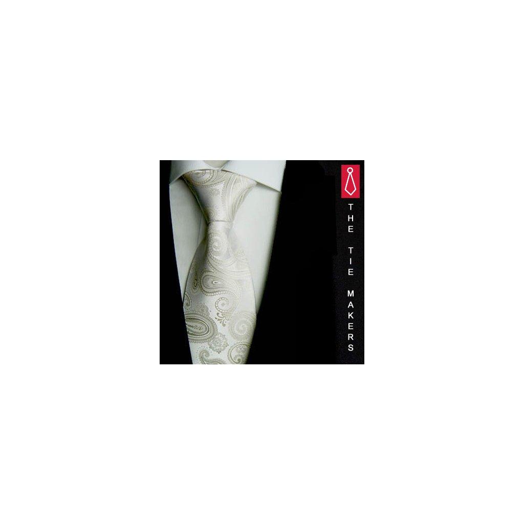 Beytnur 181-1 svatební kravata jemná ivory