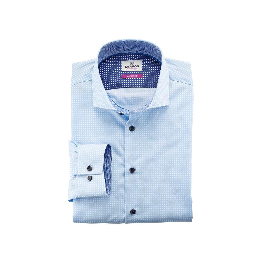 61b41fb37ab Letní světle modrá košile Lerros Premium Line - Luxusní móda