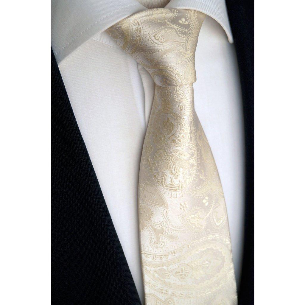 182 1 svatební kravata ivory
