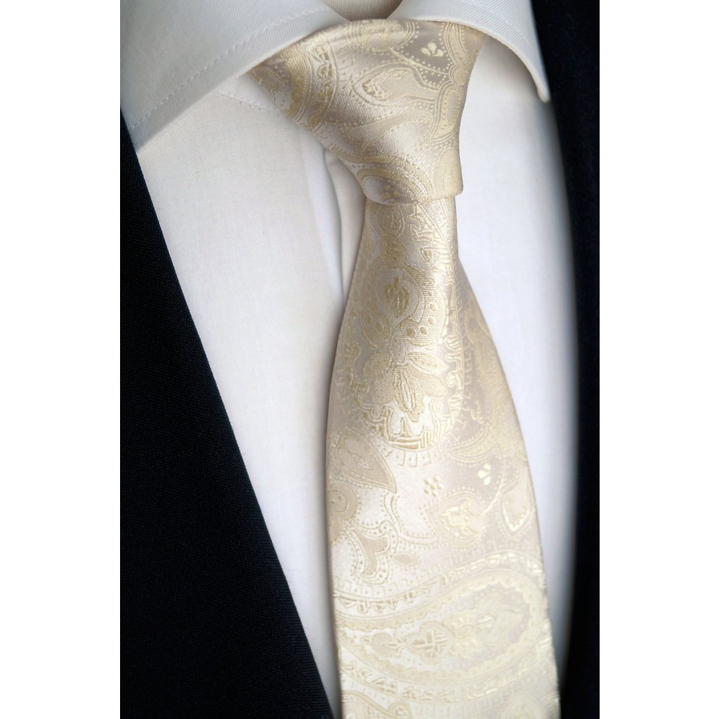 Svatební kravata Beytnur 182-1 s paisley vzorem