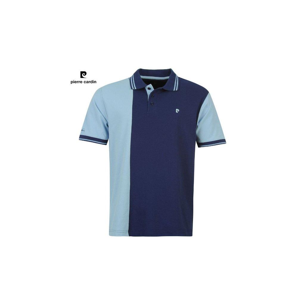 Modré pánské polo tričko pierre cardin s límečkem -37/38(S)