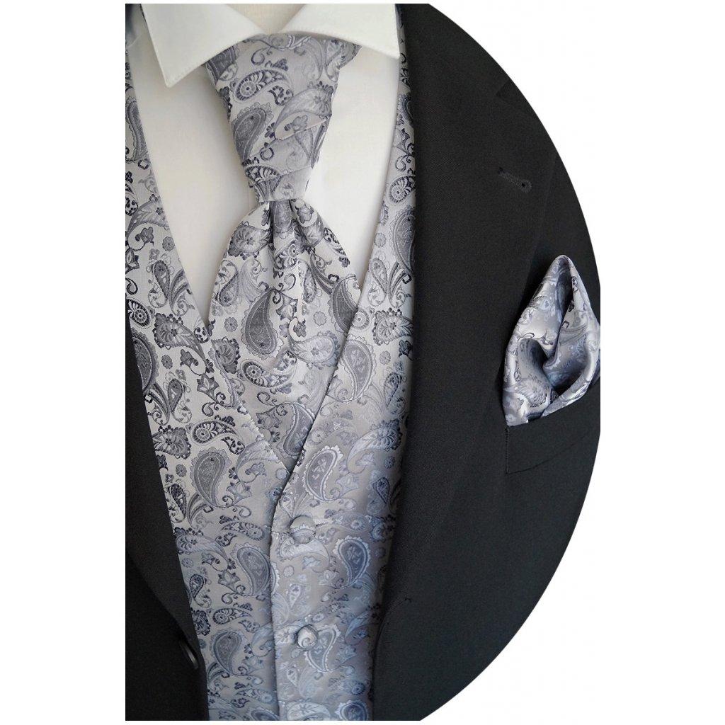 Svatební vesta Beytnur 13-5 kravata, plastron a kapesníček