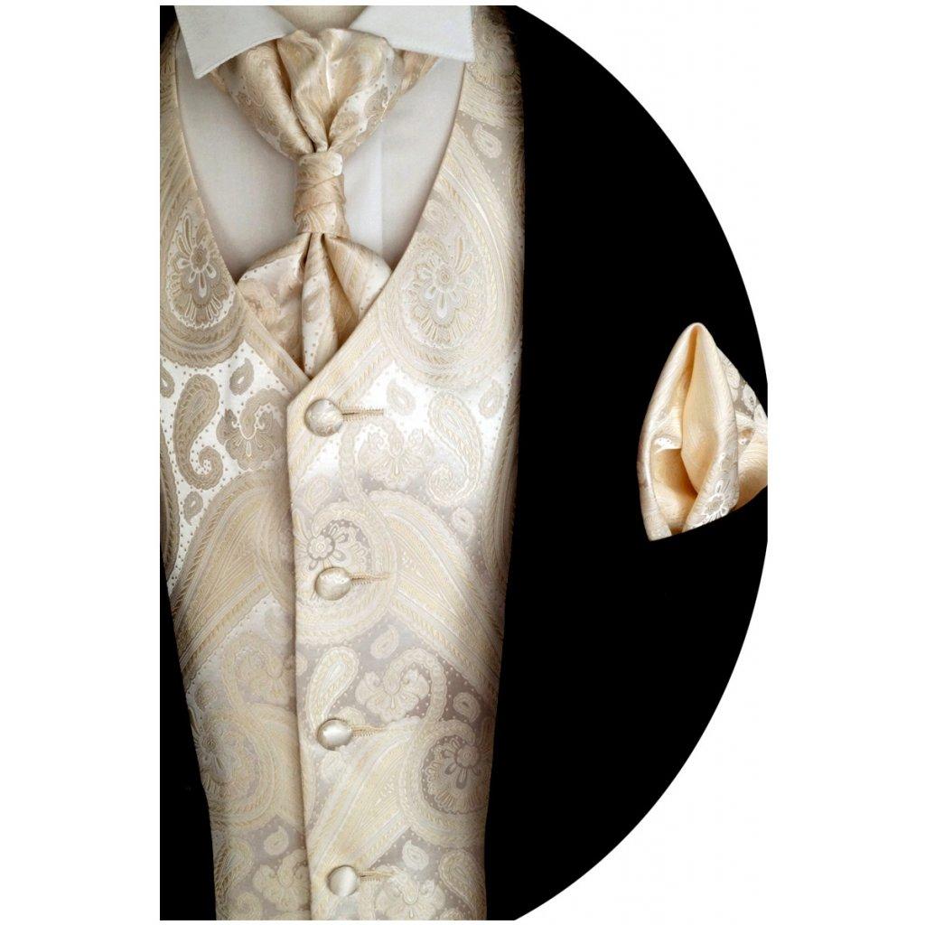 Svatební vesta Beytnur 21-1 kravata, regata a kapesníček
