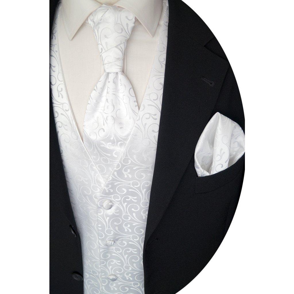 Svatební vesta Beytnur 30-1 kravata, plastron a kapesníček