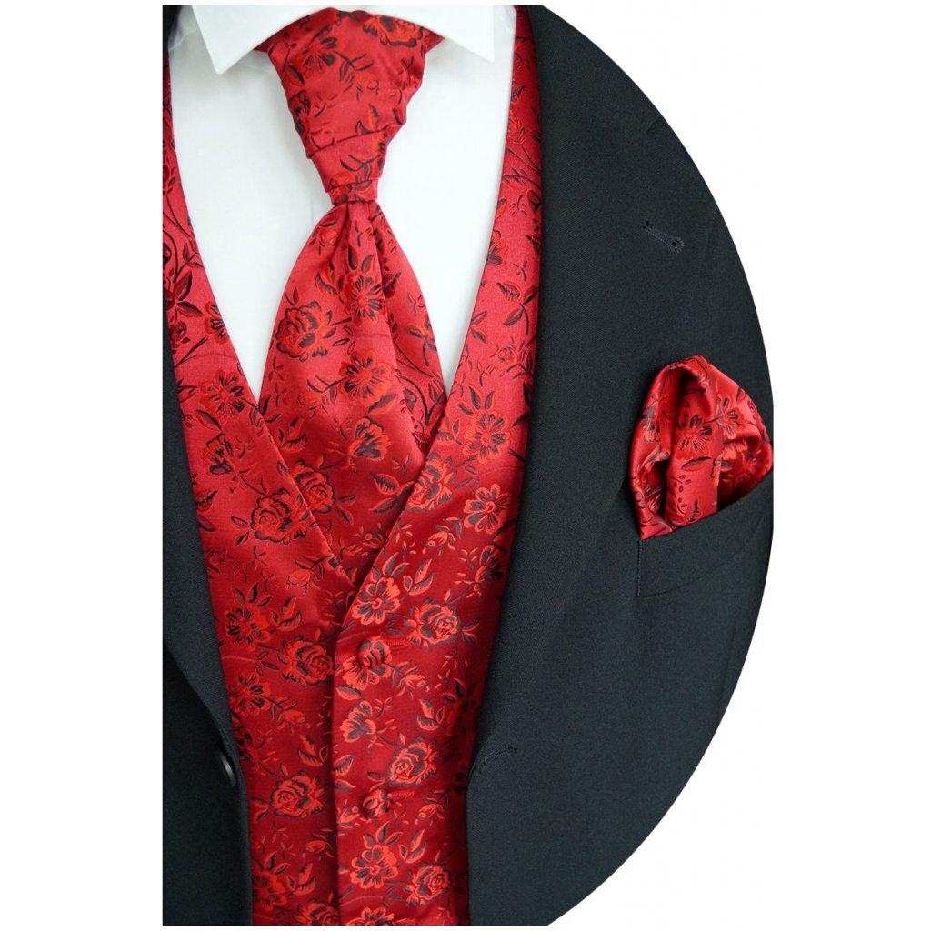Svatební vesta Beytnur 16-7 kravata, plastron a kapesníček