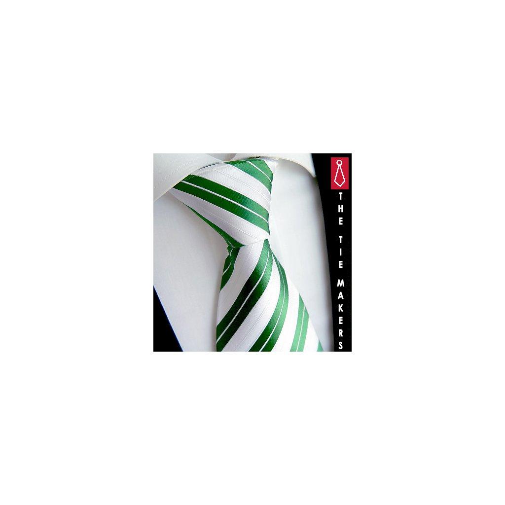 Poslední kusy Beytnur 128-2 bílo zelená kravata