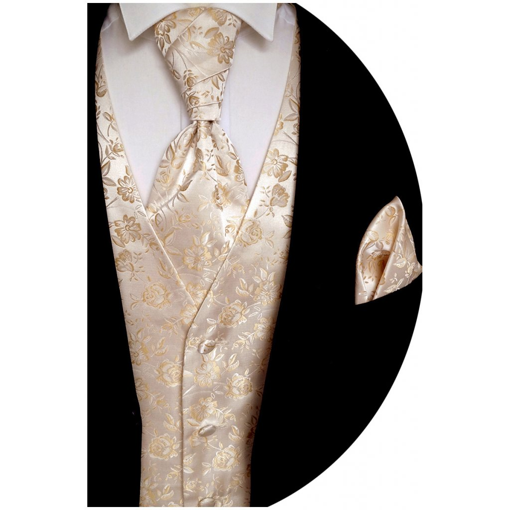 Svatební vesta Beytnur 16-4 plastron, kravata a kapesníček
