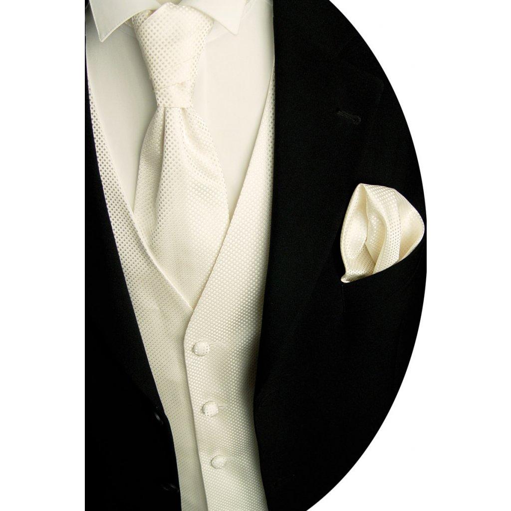 Svatební vesta Beytnur 14-1 plastron, kravata a kapesníček