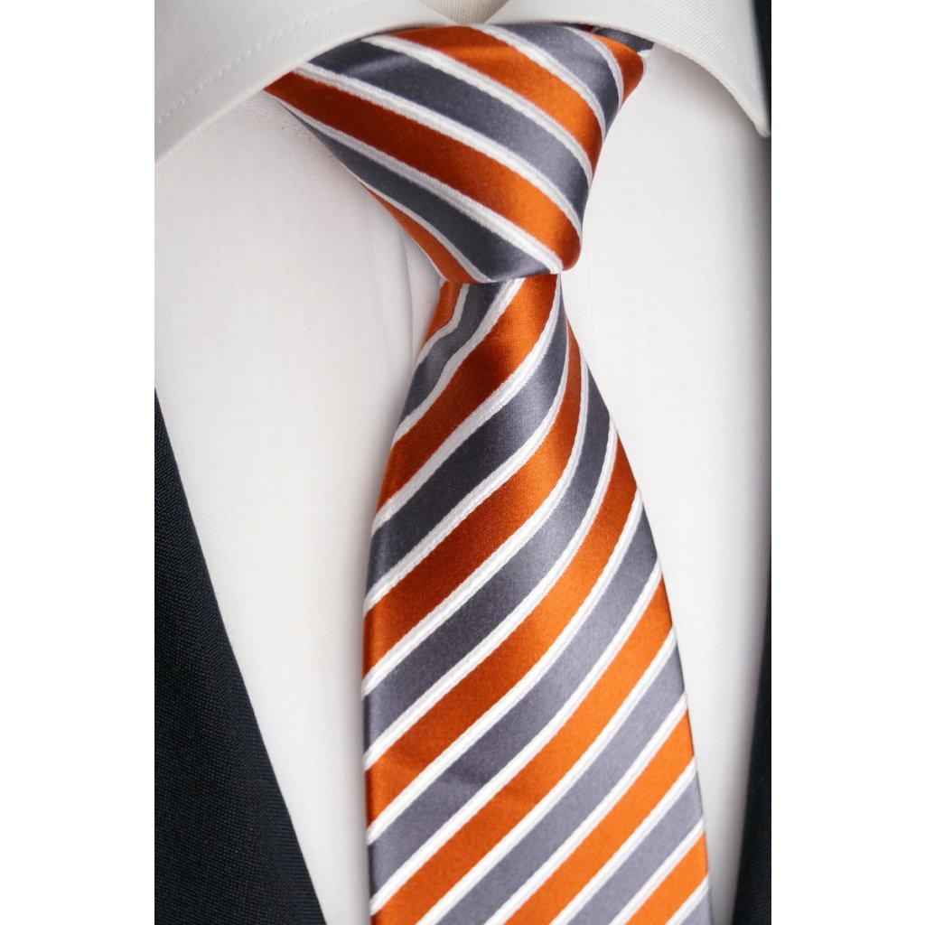 Kravata oranžová 31 8