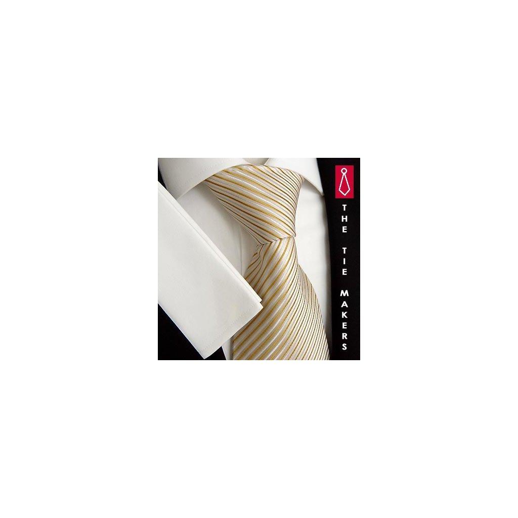 Hedvábná kravata Beytnur 140-3 béžová