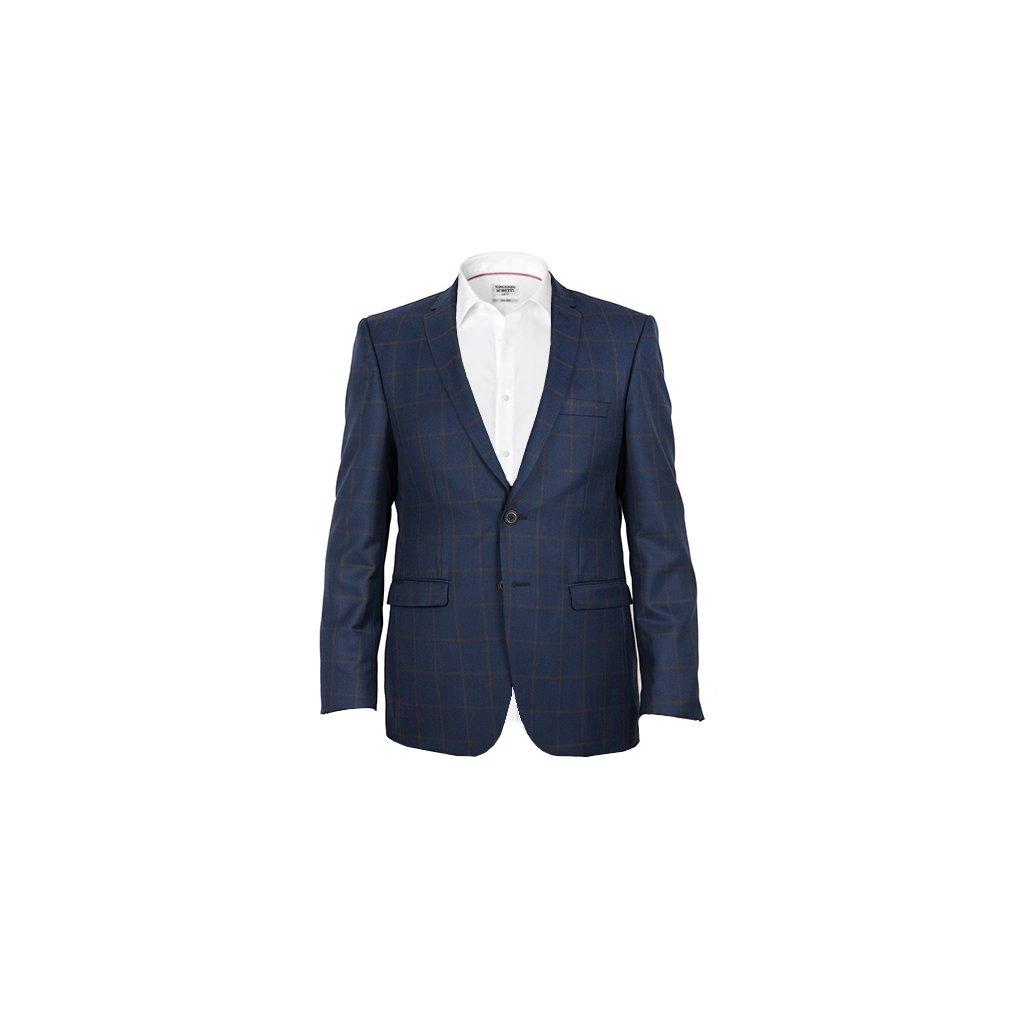 Sportovní pánské sako - modré, kostka