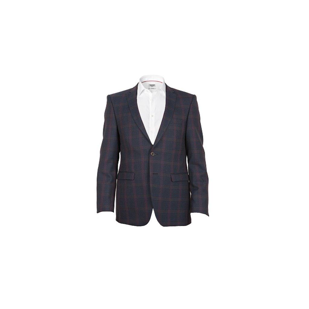 Sportovní pánské sako - modročervené, kostka