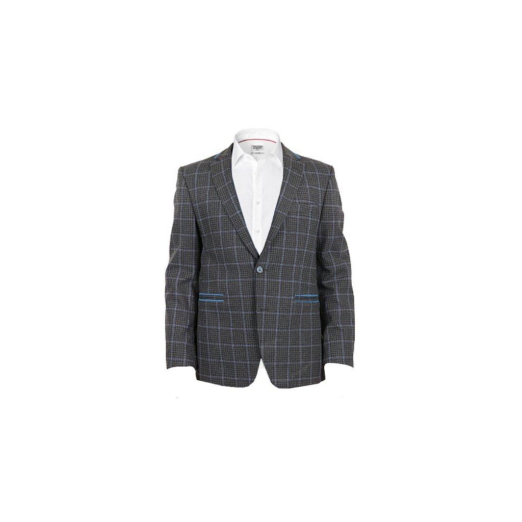 Sportovní pánské sako -  šedé, kostka