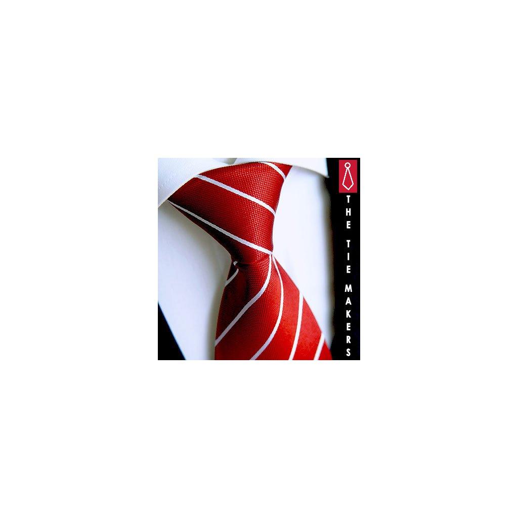 Červená hedvábná kravata Beytnur 21