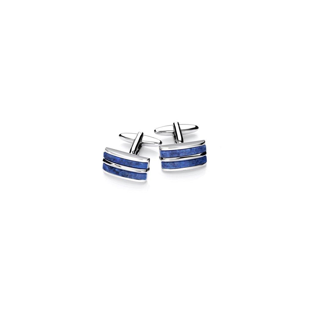Luxusní manžetové knoflíčky Vincenzo Boretti modré