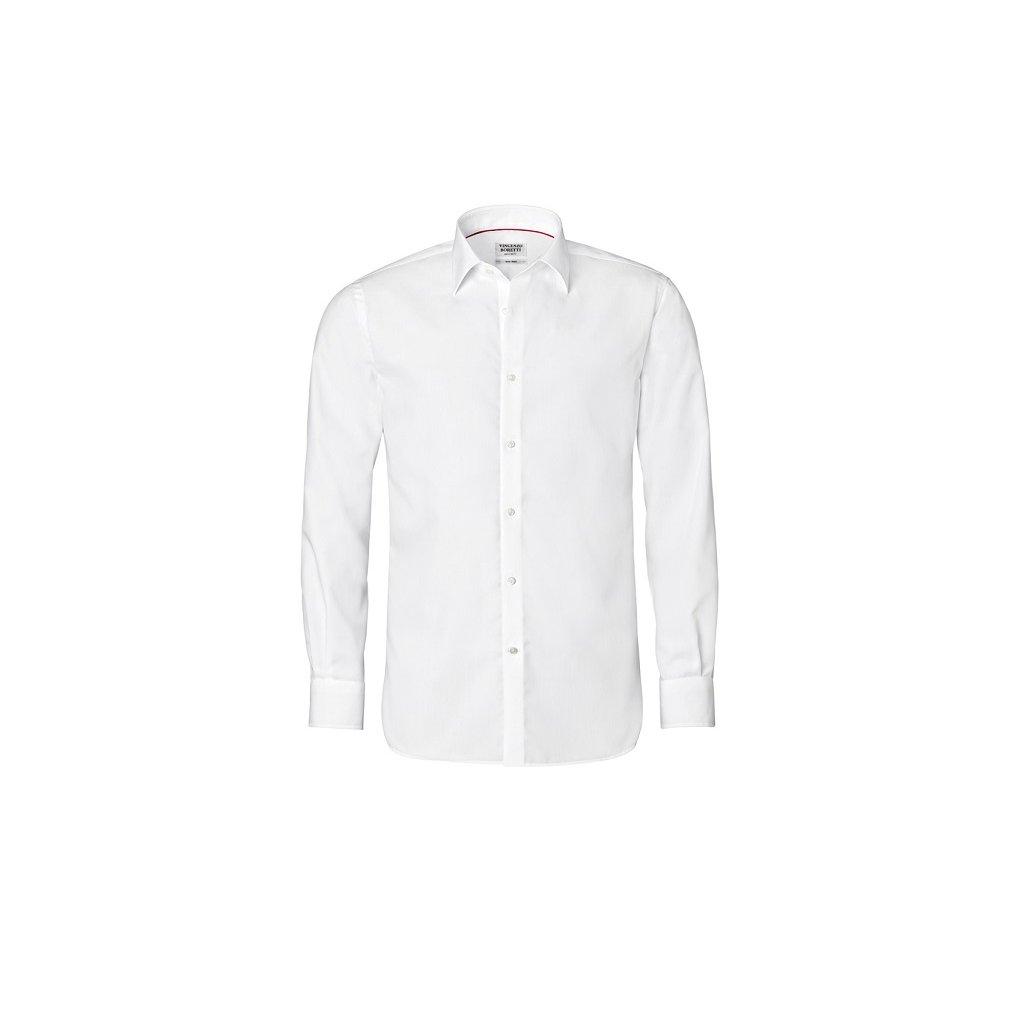 Bílá košile Vincenzo Boretti,  na manžetové knoflíčky RF