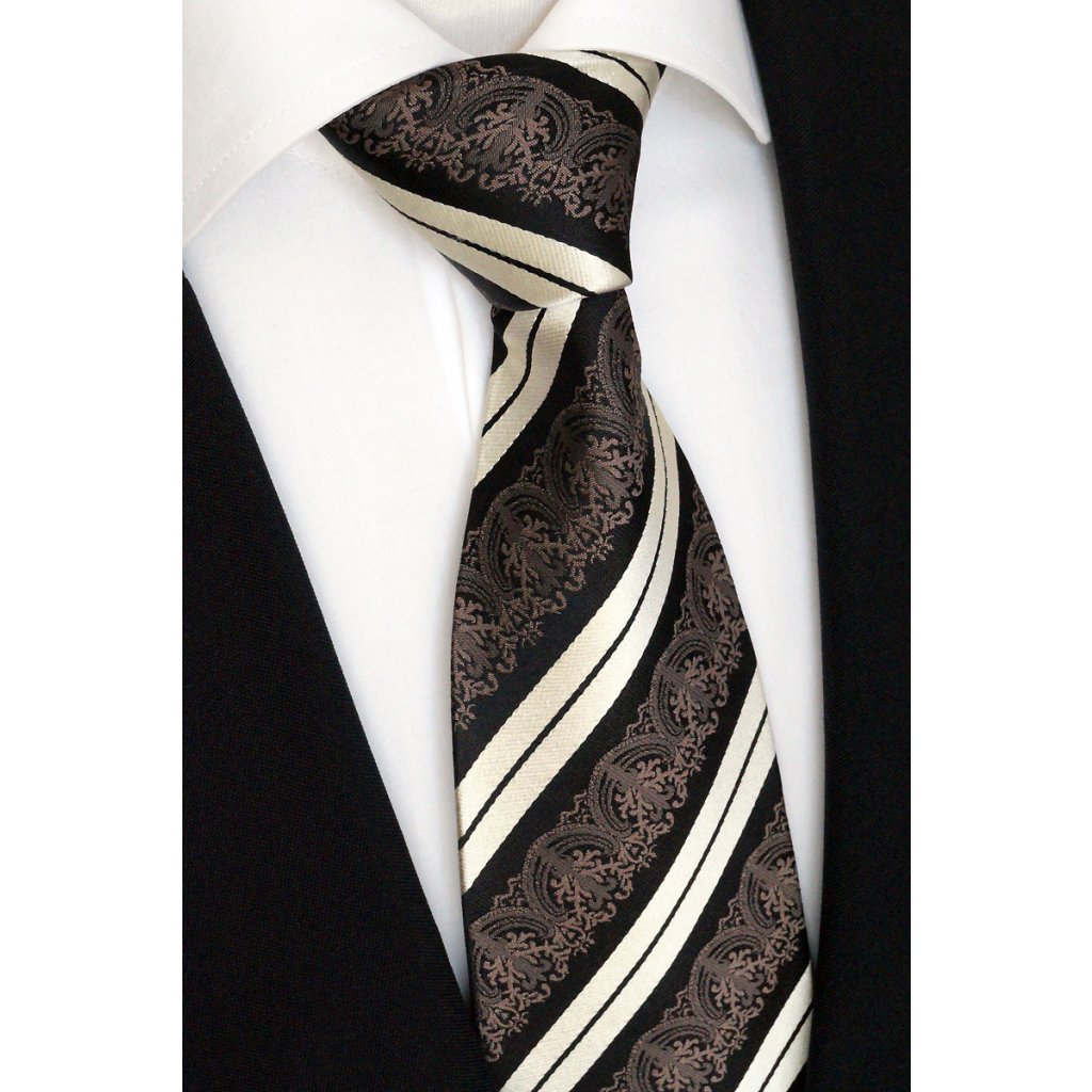 henědá hedvábná kravata