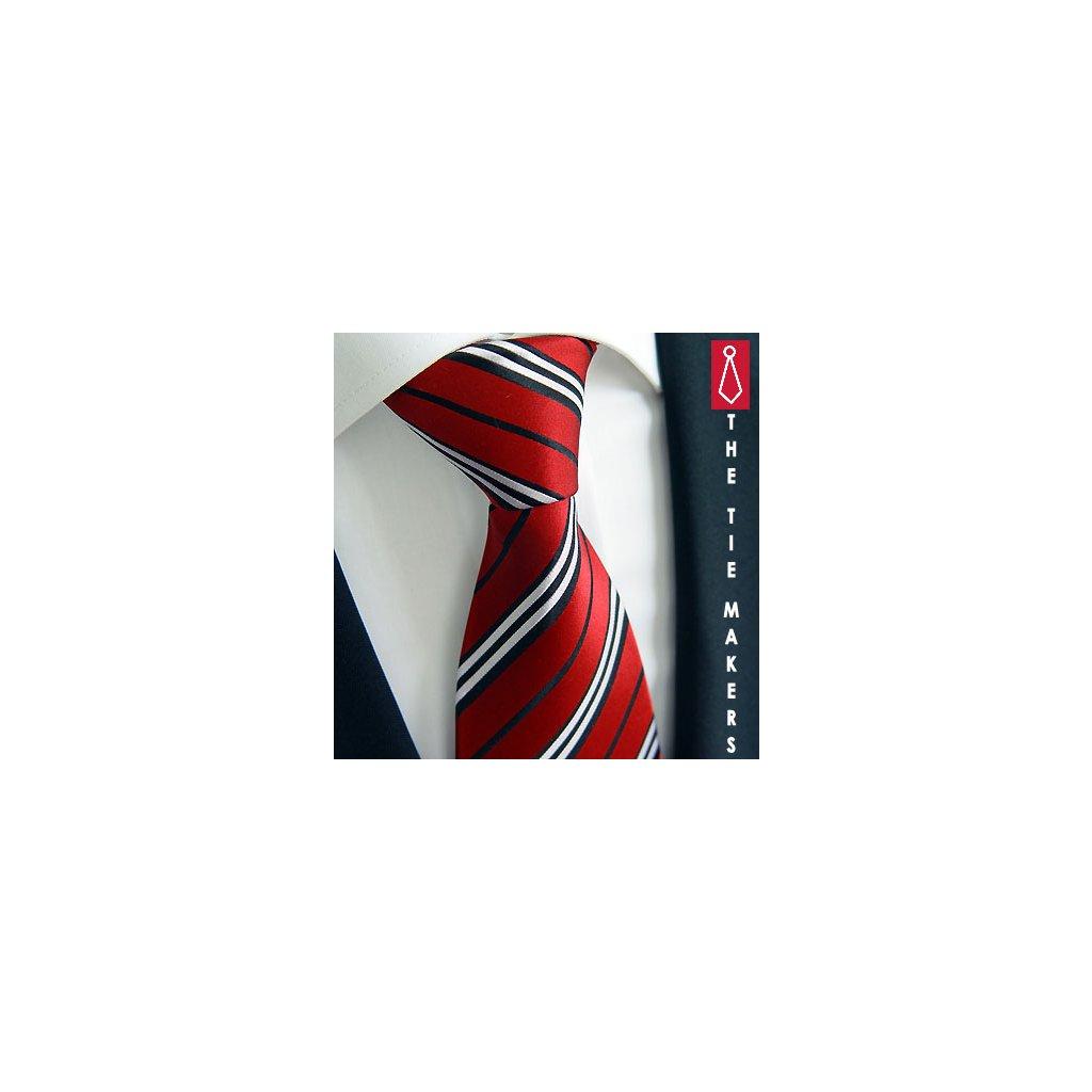 Kravata Beytnur 92-2 červená s proužkem pro manžery