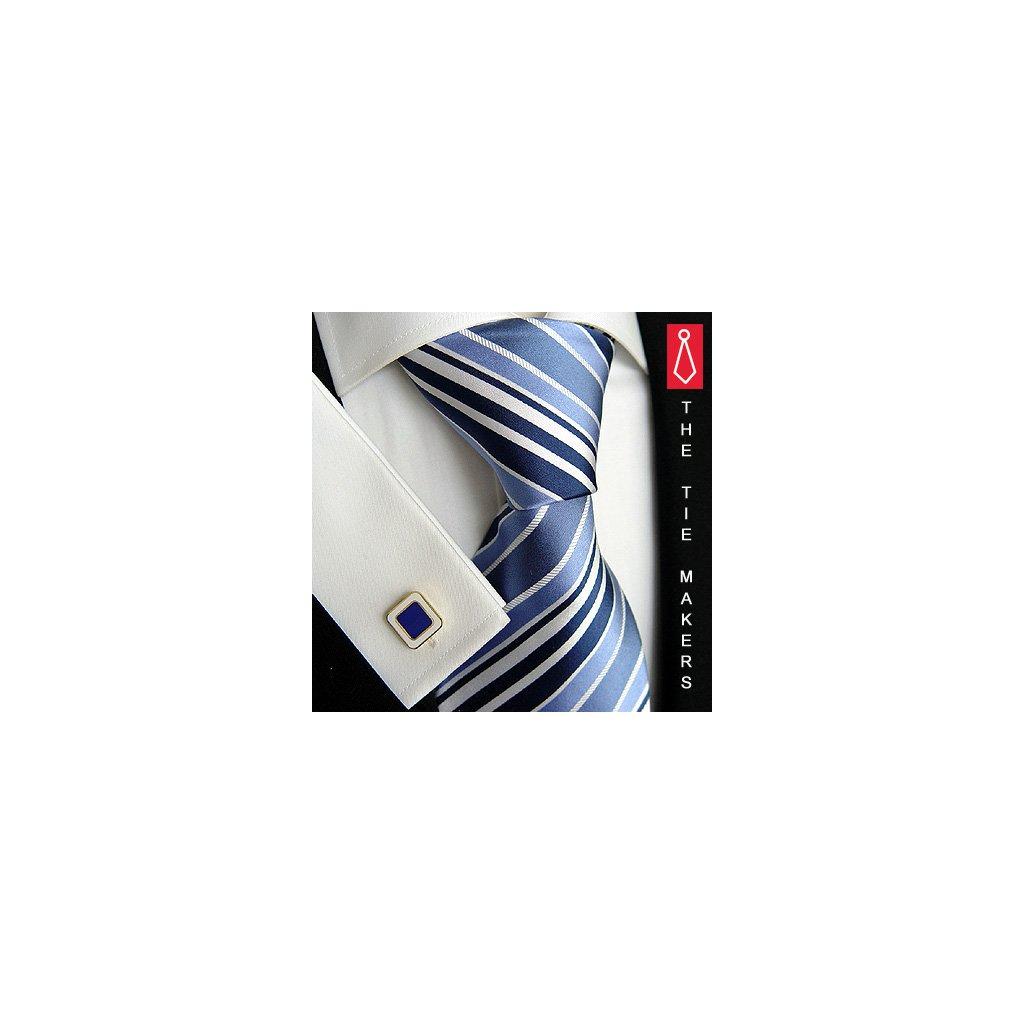 Modrá pruhovaná kravata Beytnur 42-7