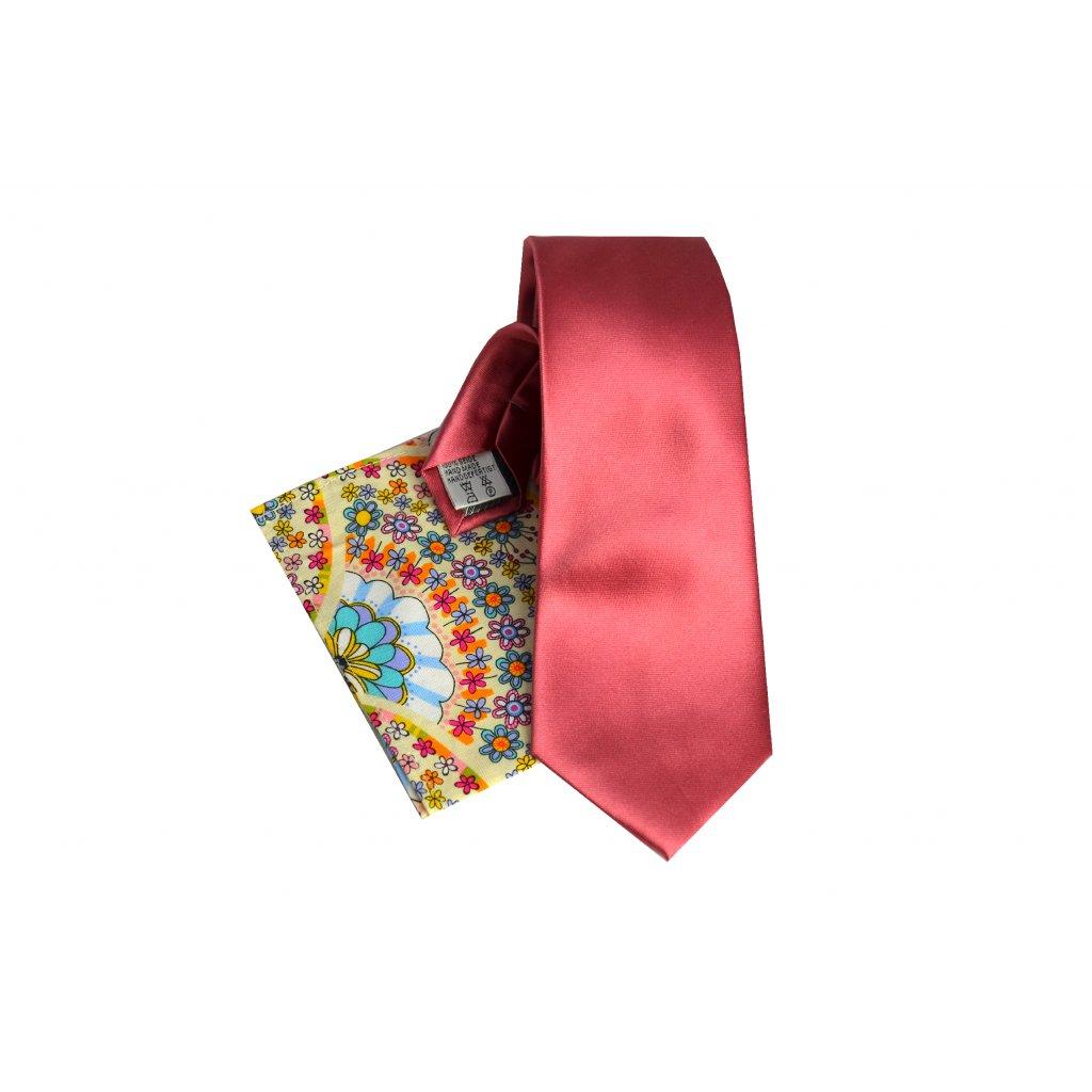 Vincenzo Boretti kravata a kapesníček růžová