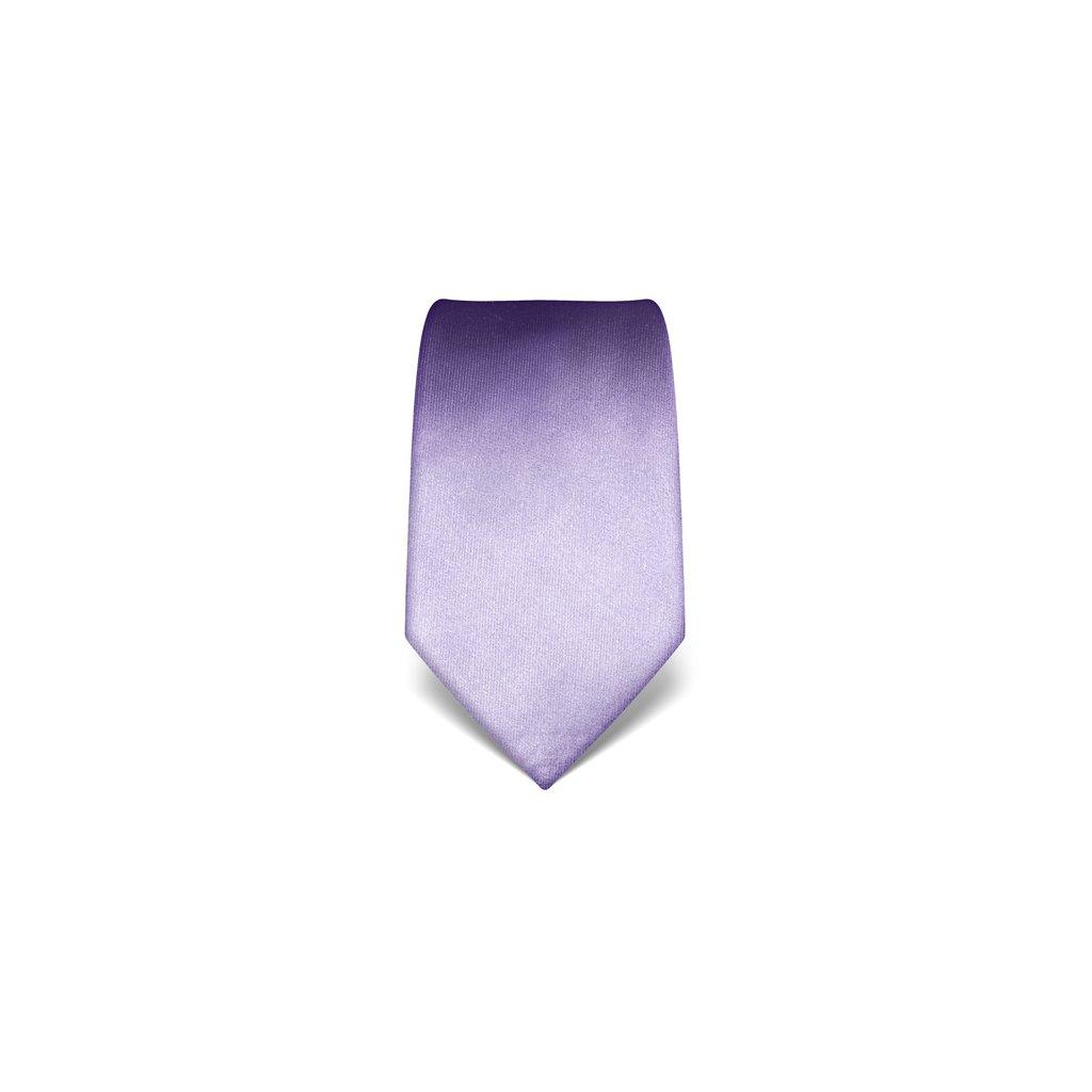 Lila, jemně fialová kravata