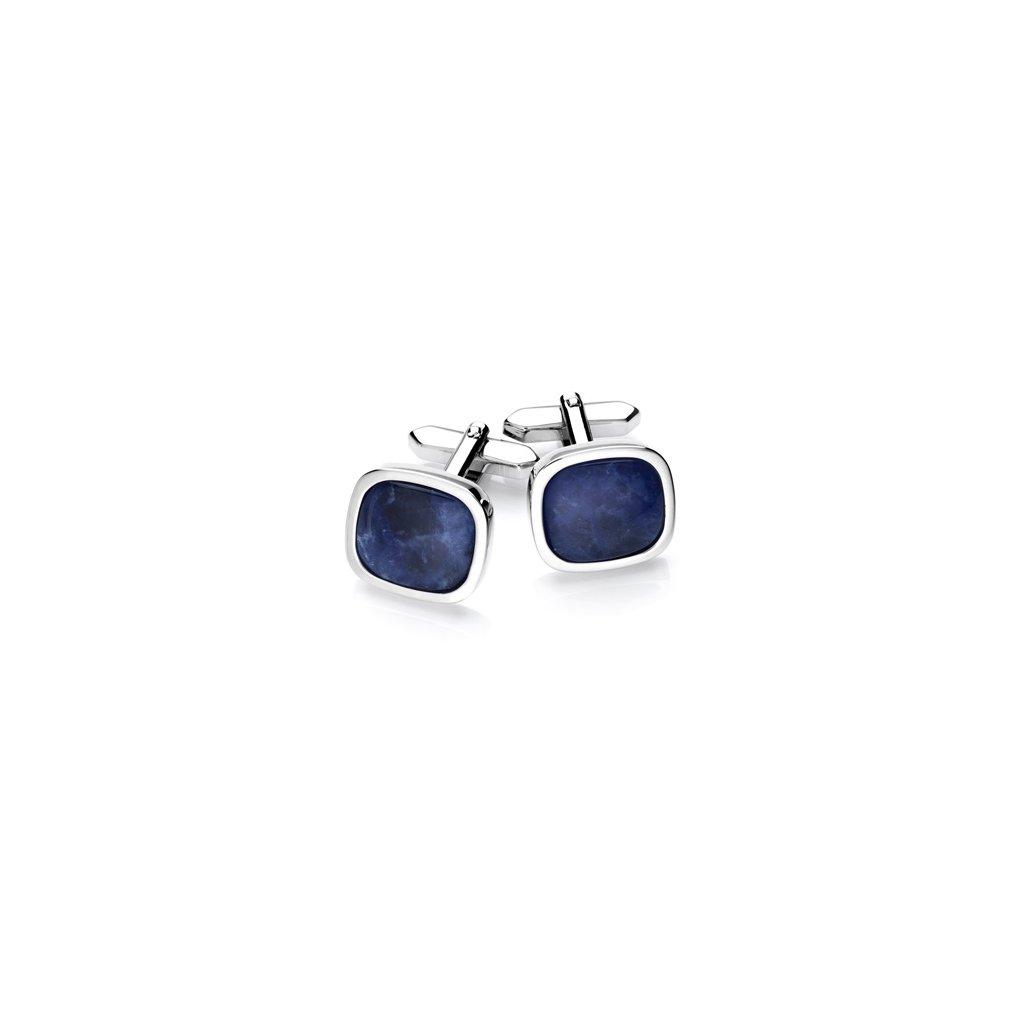 Luxusní manžetové knoflíčky Vincenzo Boretti - modré