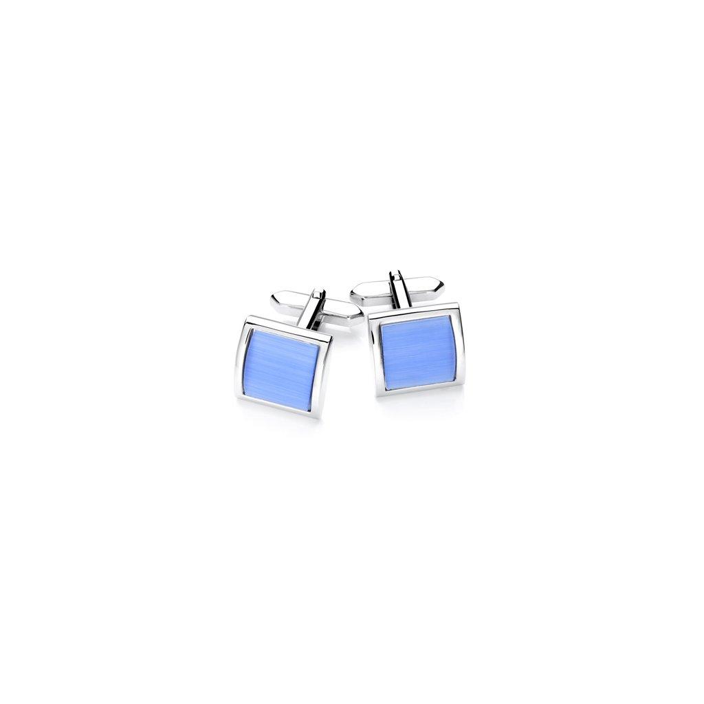 Luxusní manžetové knoflíčky Vincenzo Boretti -  světle modré