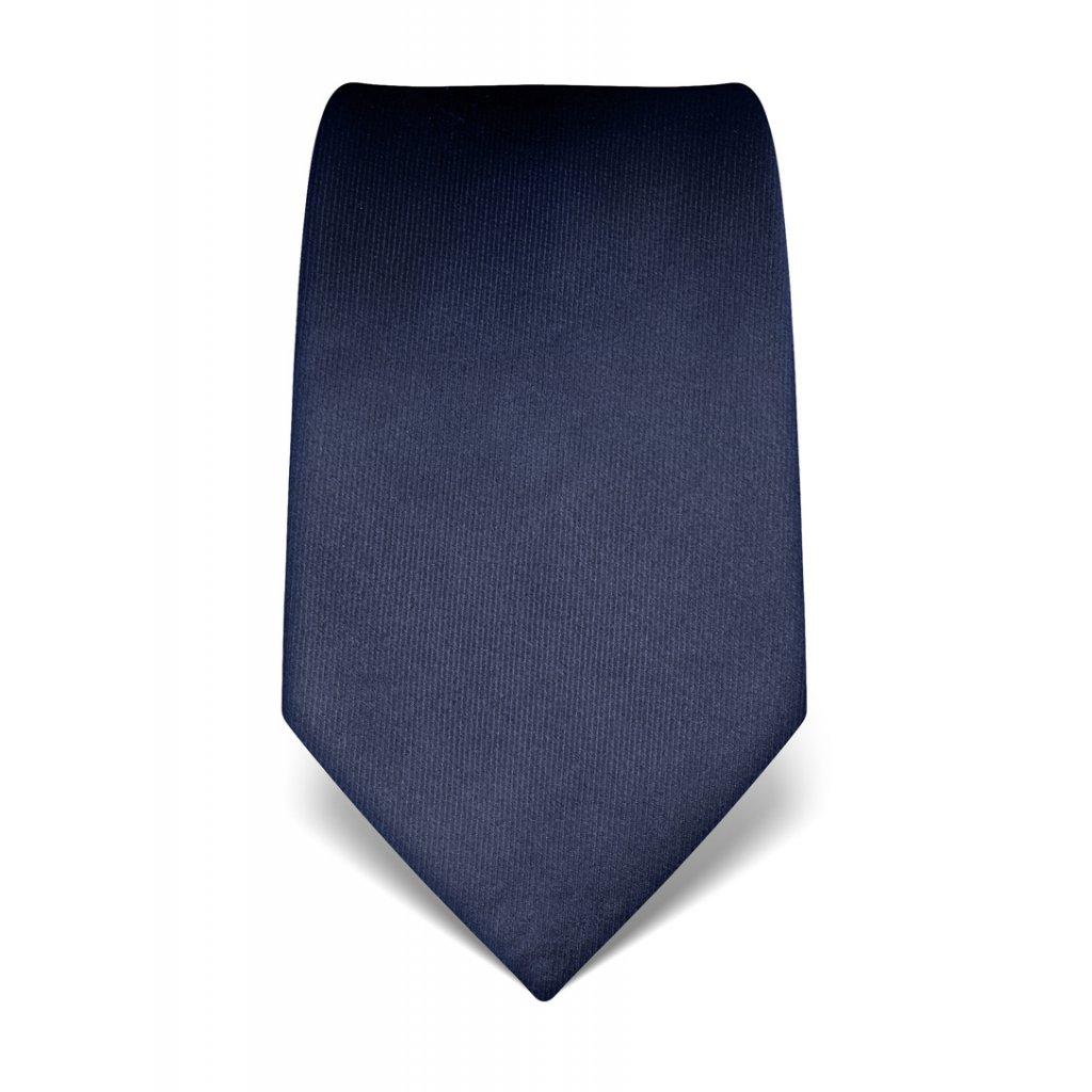 Tmavě modrá hedvábná kravata