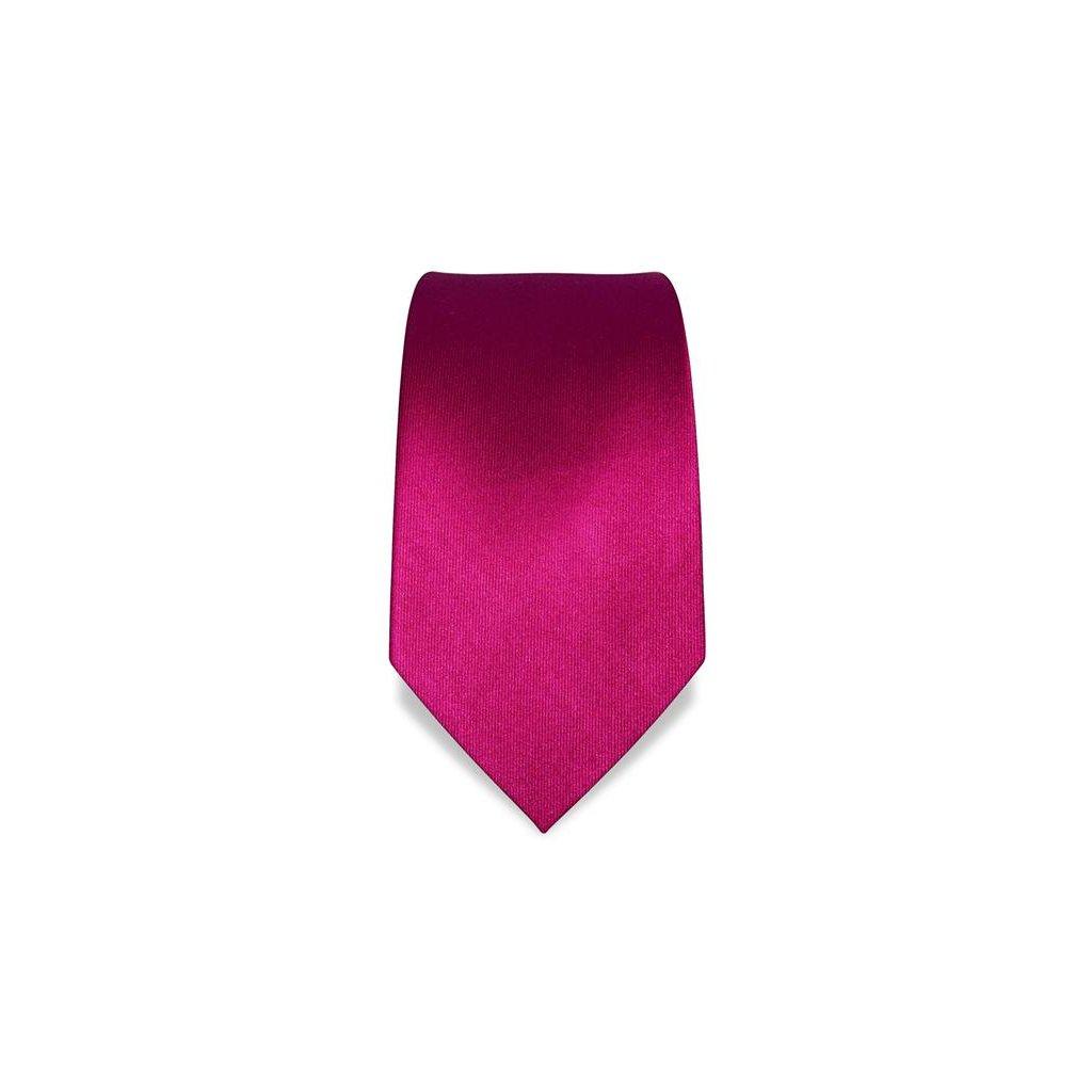 Vincenzo Boretti 1391 magenta luxusní kravata