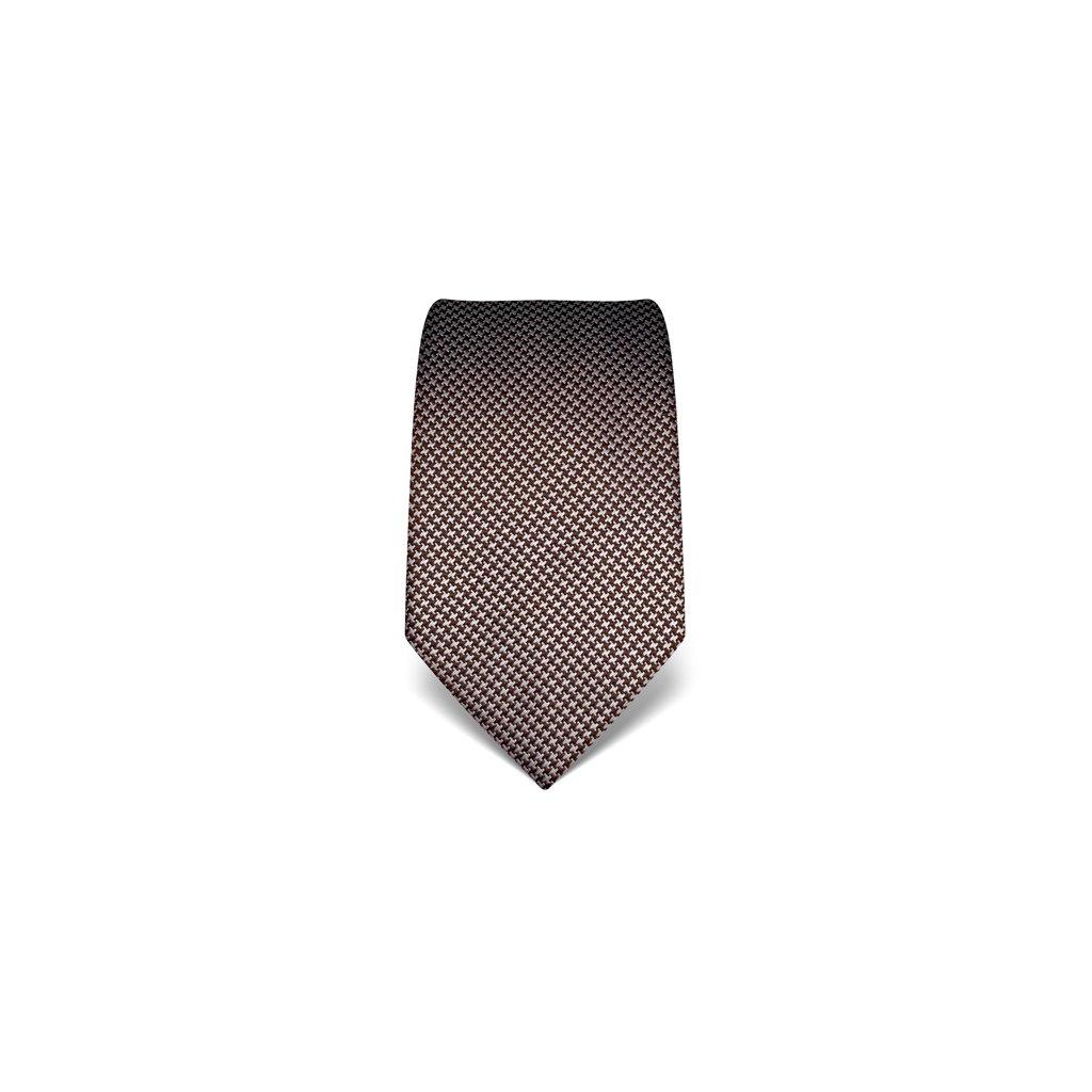 Tmavě hnědá velmi zajímavá kravata