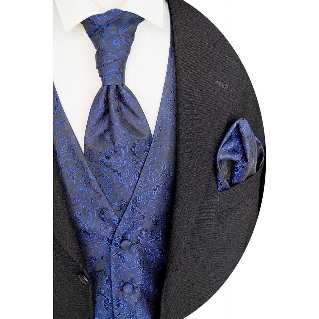 Svatební vesta tmavě modrá