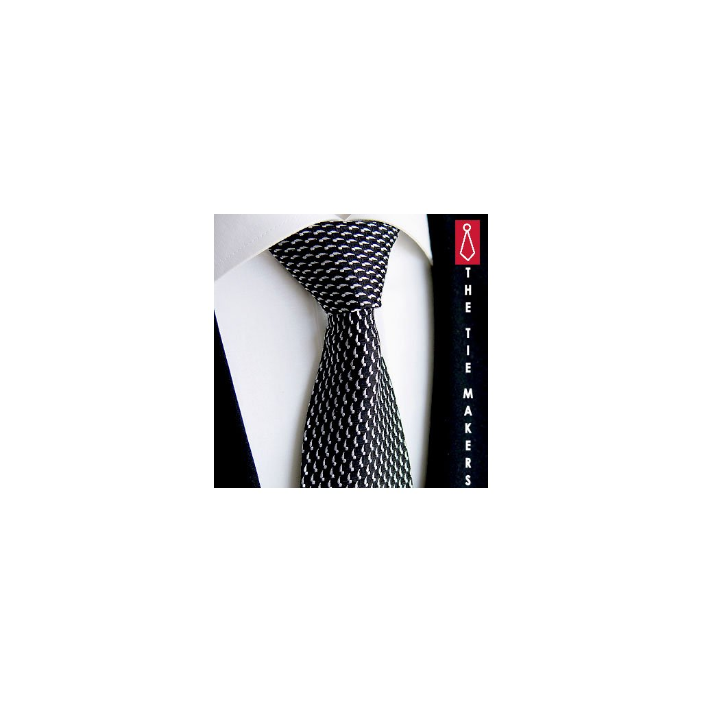 Designová kravata Beytnur 213-1 černá