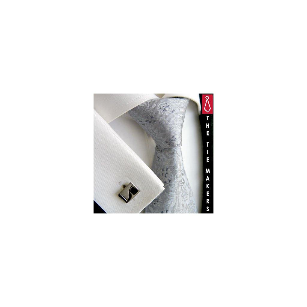 Luxusní hedvábná světle šedá 217-2