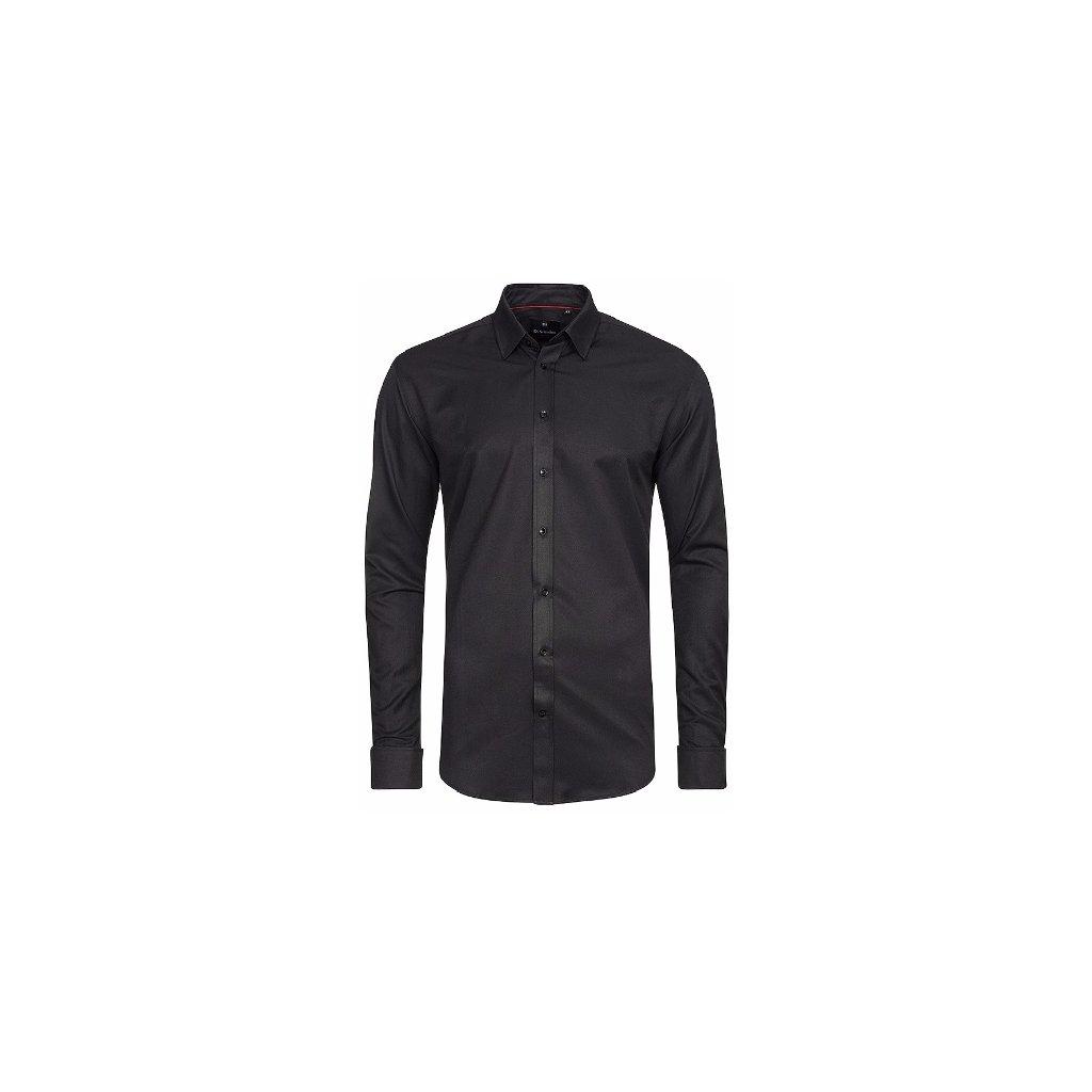 a2aff699233 Černá pánská košile Di Selentino Salzburg manžeta SLIM FIT. Neohodnoceno.  c8ae1a02b58ff55f2da4d82fbef35390