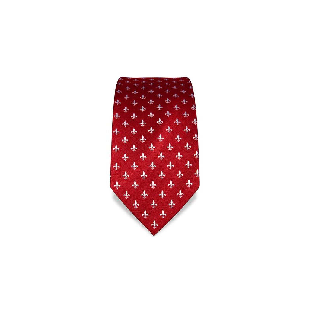 Lilie červená kravata Vincenzo Boretti 21922