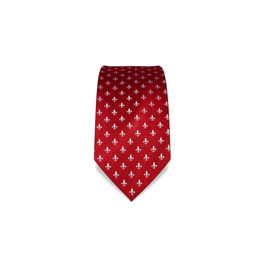 Lilie červená kravata Vincenzo Boretti 21974