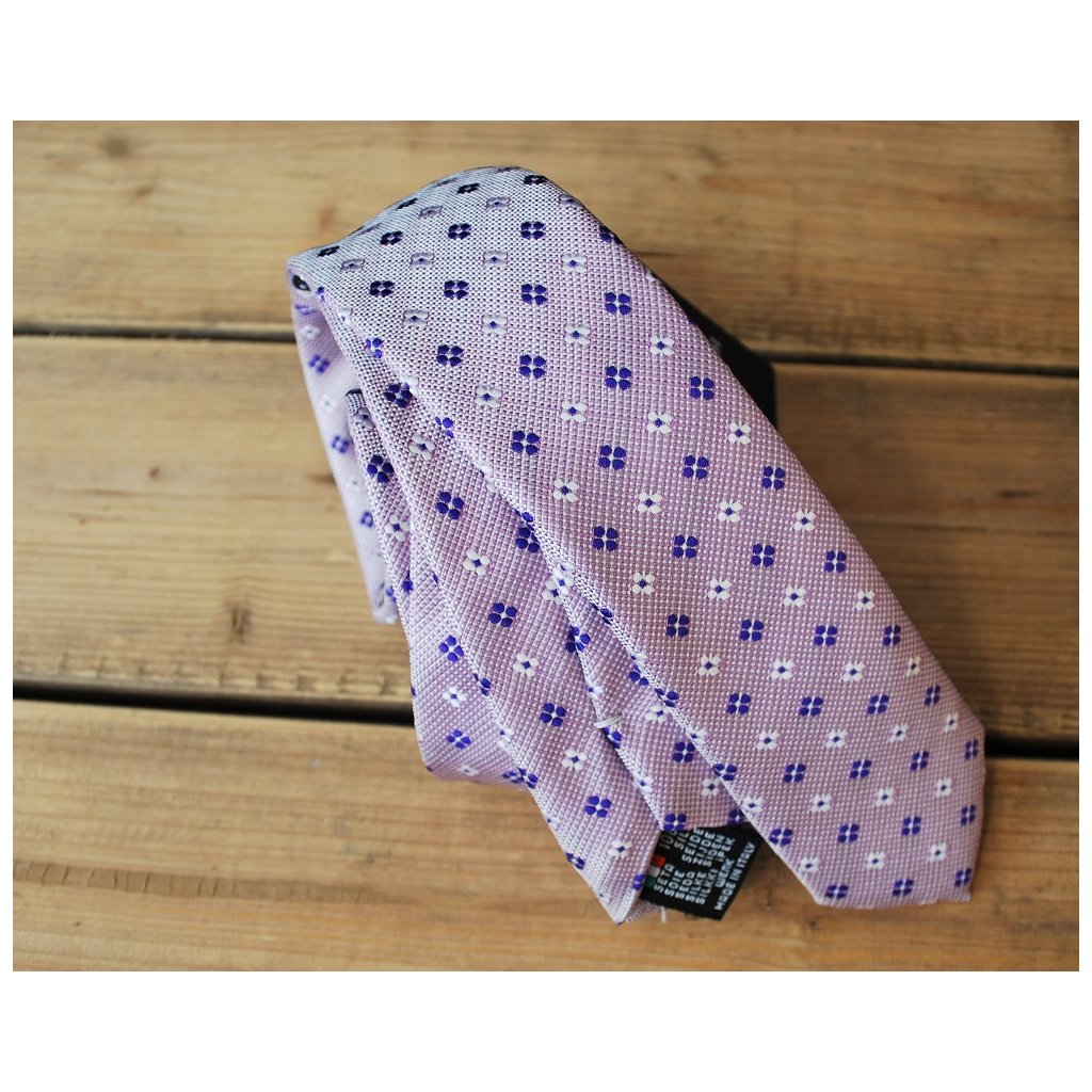 Luxusní slim kravata Gagliardi fialová