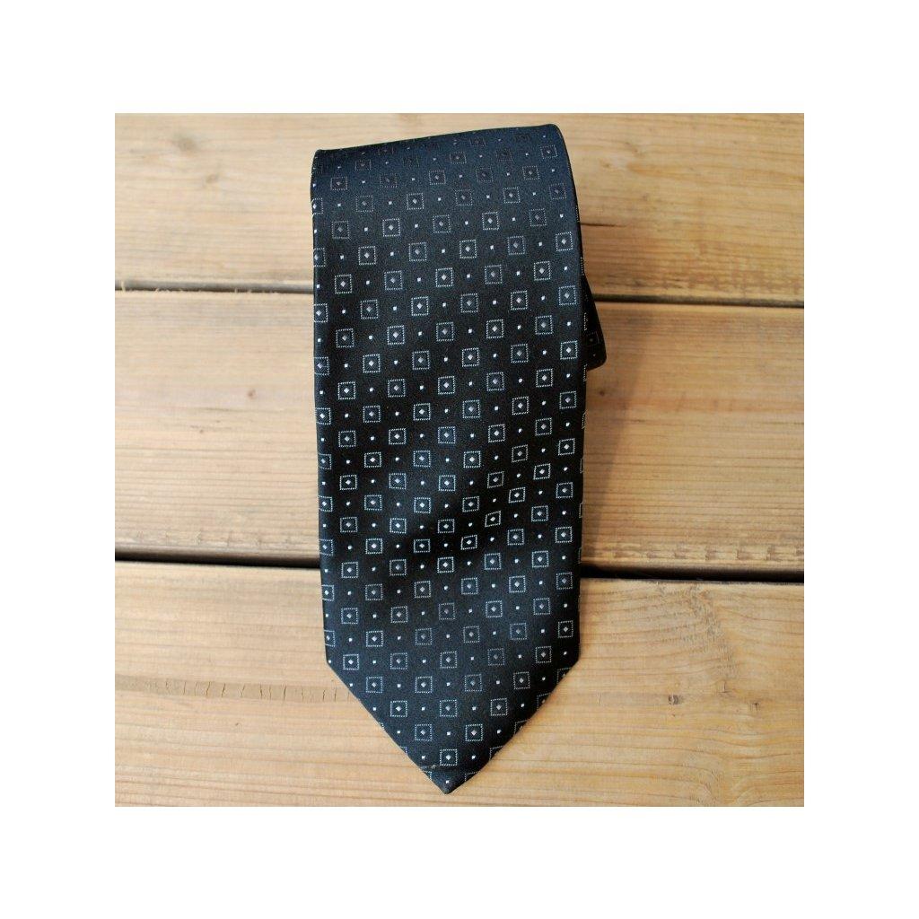 Luxusní kravata Bugatti - černá kostička