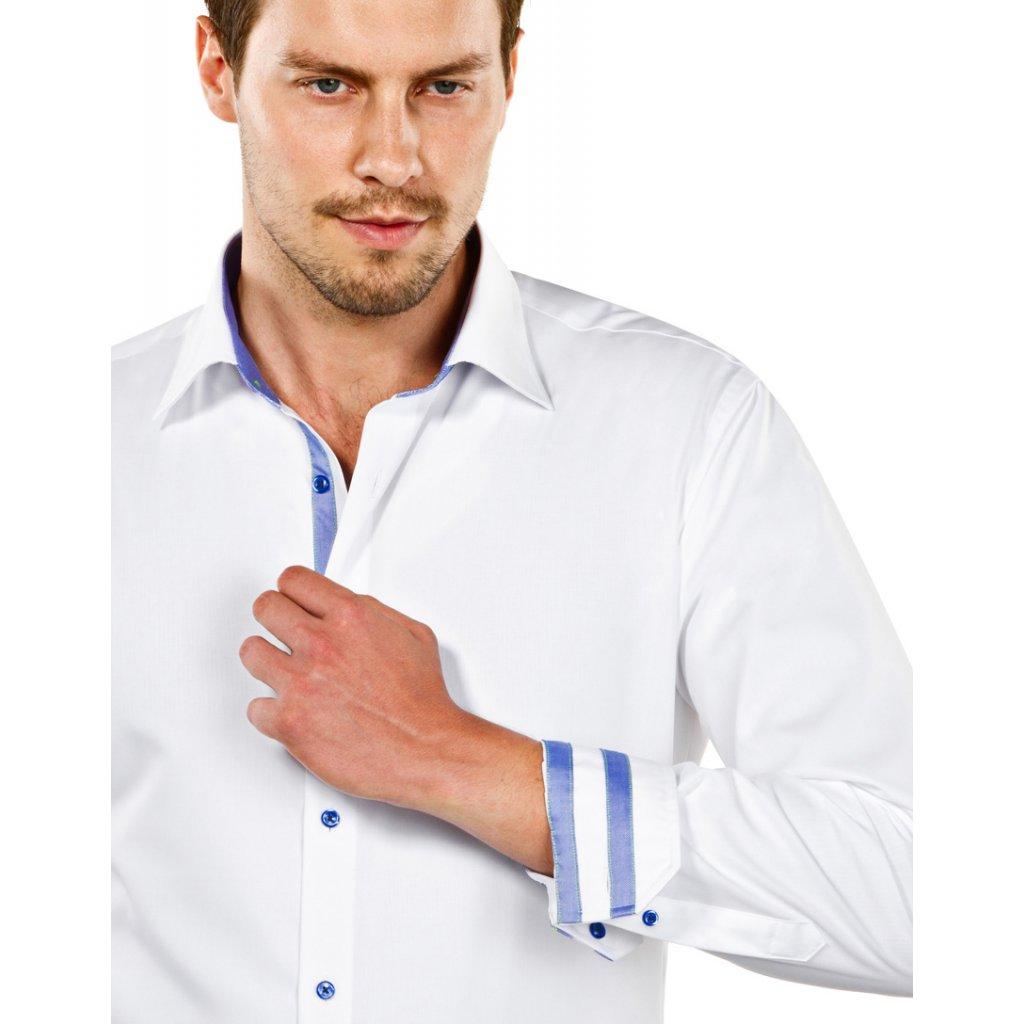 Vincenzo Boretti košile bílá s jemnou kostičkou