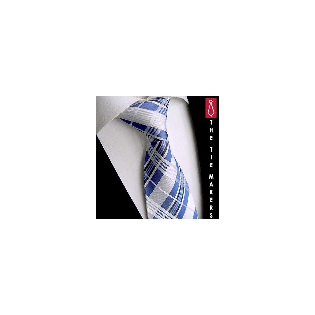 Beytnur 238-1 hedvábná kravata modrá