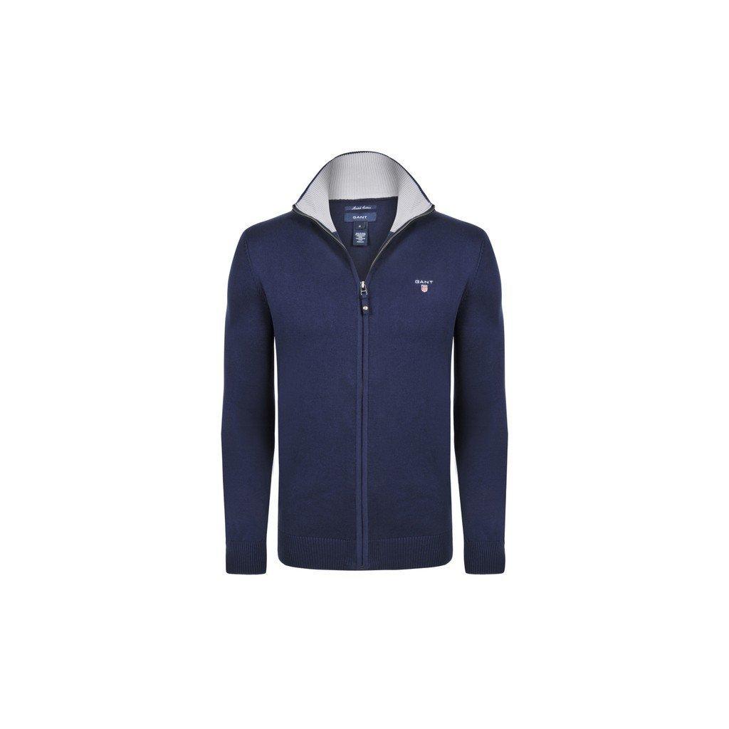 GANT pánský svetr modrý na zip - Luxusní móda 9139194e7e