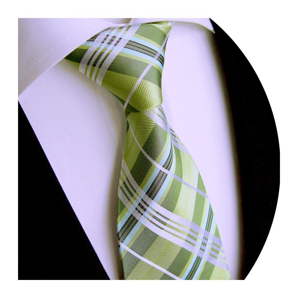 238 3 hedvábná kravata zelená