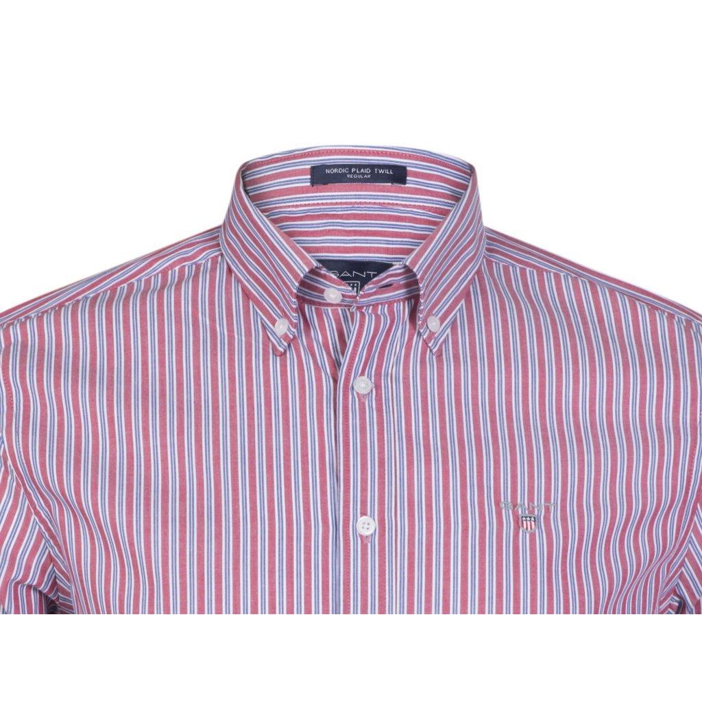 641821250f1 GANT pánská košile červeno-modrá · GANT pánská košile červeno-modrá ...