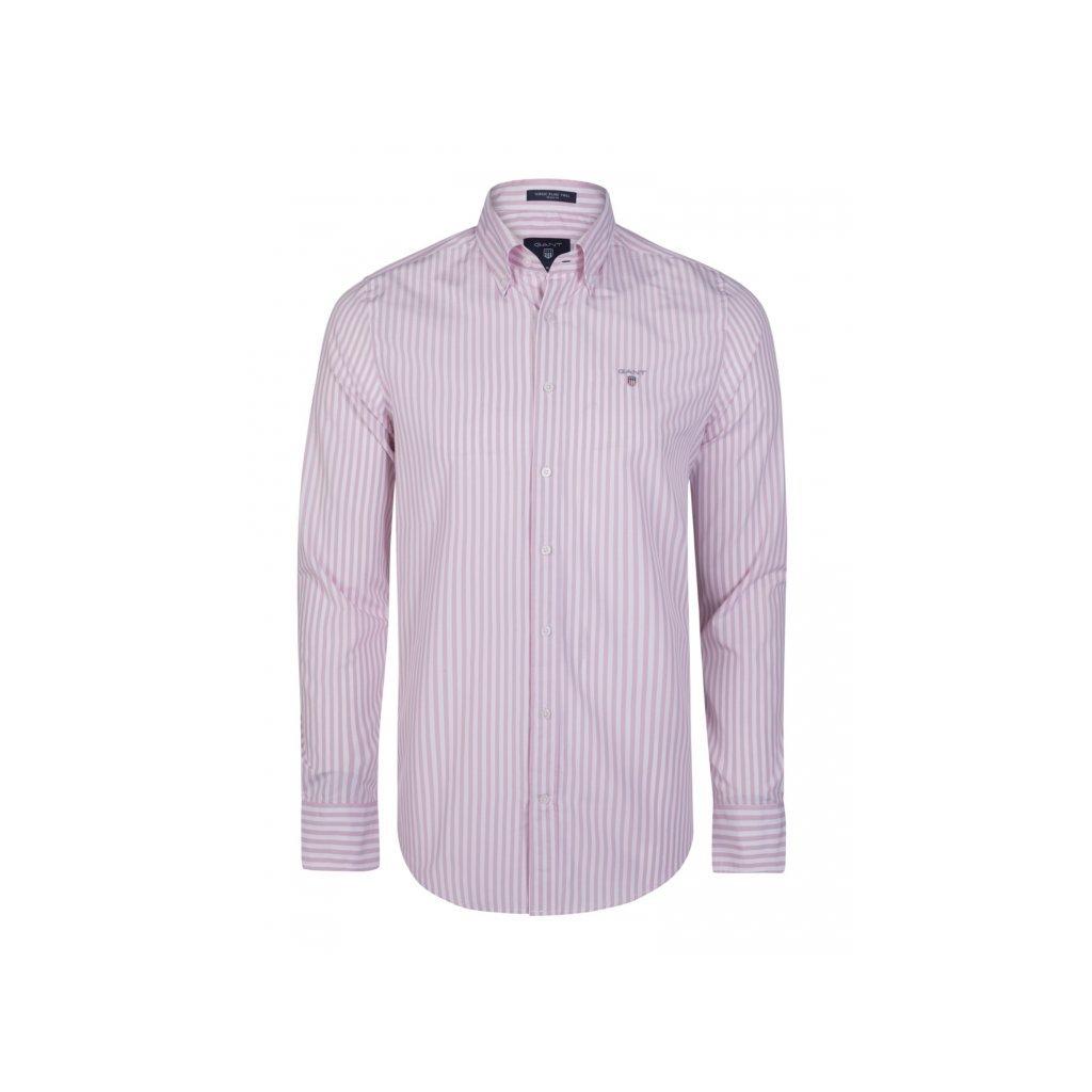 GANT pánská košile růžovo-bílá - Luxusní móda 3713818c0b