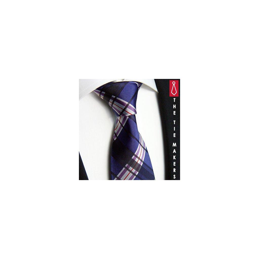 Beytnur 239-1 hedvábná kravata modročerná