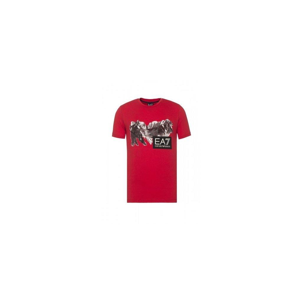 ARMANI tričko s krátkým rukávem červené
